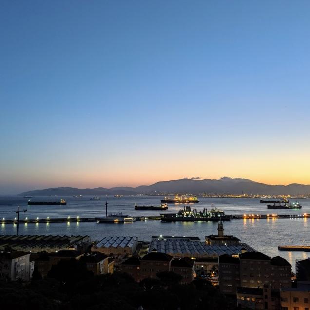 Gibraltar evening